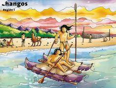 Dibujos de pueblos originario de Chile para niños. lugares de chile
