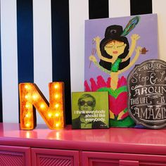"""12"""" Small Letter N Lighted Vintage Marquee Letters (Rustic)"""