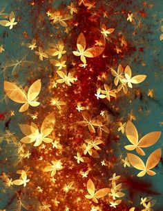 Butterflies  Fractal art  2012  The beauty of Life, is hope