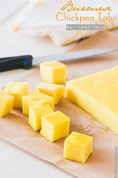 Burmese Chickpea Tofu Recipe soy free tofu - #vegan #dairyfree #glutenfree | DeliciousEveryday.com