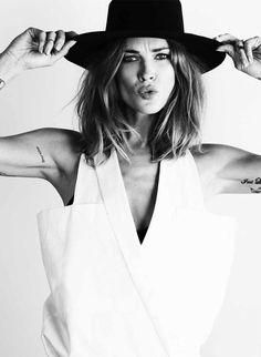 erinwasson white editorials fashion photography hat