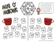 I've got a great freebie for you today! My Winter Math Games  are now posted on TpT ! The set includes 8 game boards . I use the games wi...