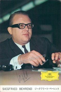 Behrend, Siegfried - Signed Photo