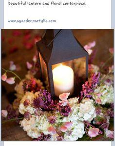 Lantern flower centerpiece #agardenpartyllc
