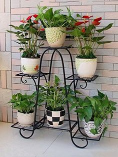 plant stands lower Racks Iron Plant Stand Flower Pot Garden Storage Shelf for Balcony Outdoor for sa Indoor Flower Pots, Iron Plant, Decoration Plante, Pot Jardin, Diy Plant Stand, Outdoor Plant Stands, Metal Plant Stand, Flower Stands, Plant Shelves