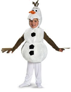 Frozen Disney Deluxe Olaf Child Toddler Costume