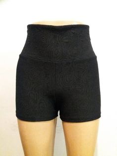 8c487daff4569 High waist shorts/ Black shorts/ Yoga shorts/ Womens shorts/ Mens shorts/  Booty shorts