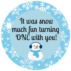 Printable Birthday Favor Tag for a Boy Winter by thatsawrap2, $8.00