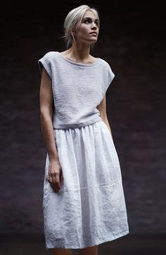 Eileen Fisher Organic Linen Skirt (Regular & Petite) | Nordstrom