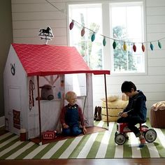A horse is a horse, of course. But a horse stable playhouse is something entirely different. Designed just for us by Danielle Kroll, it's adorned with tons of playful details,
