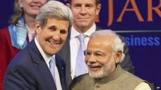 """John Kerry urges stronger India-US ties. US Secretary of State John Kerry has called for stronger US-Indian trade ties at an international investor conference ahead of President Barack Obama's visit to India this month. Mr. Kerry said better economic ties would help boost India's growth and fight climate change. Speaking at the investment conference in the western Indian city of Ahmedabad on Sunday, Mr. Kerry described Indian PM Narendra Modi as a """"visionary prime minister""""..."""
