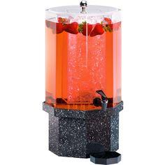 11W x 11D x 18H Classic Beverage Dispenser 1.5 Gallon Charcoal Granite
