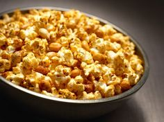 Chili Parmesan and Peanut Popcorn    I love spicy popcorn, this recipe is perfect for my weekend snacks! keeping it low calorie, flavorful, and filling