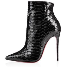 So Kate Booty Black Python from Christian Louboutin. Saved to Boots👢. Shop more products from Christian Louboutin on Wanelo. Leather High Heel Boots, Heeled Boots, Shoe Boots, Bootie Boots, Shoes Heels, Ankle Boots, Louboutin Shoes, Dress Shoes, Beautiful Shoes