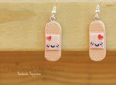 Band aid Earrings by HandmadebyAlyssa on Etsy, $7.00