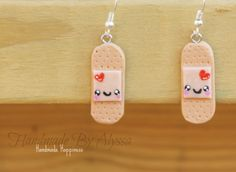 Band aid Earrings by HandmadebyAlyssa on Etsy, $7.00