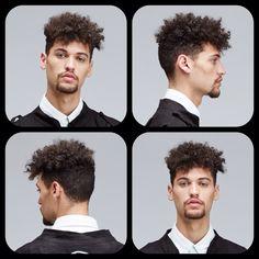Mens Textured Hi Top 3C Type curl