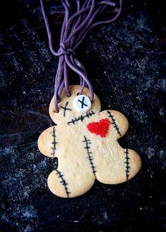 Voodoo Doll Cookies Halloween Brownies, Halloween Snacks, Buttery Sugar Cookies, Lemon Blossoms, Man Cookies, Cheese Curds, Origami Owl Jewelry, Voodoo Dolls, Amazon Gifts