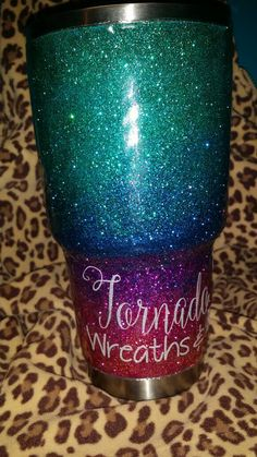 Yeti / Glitter Dipped Yeti / Monogram Ombre by TornadoAlleyDesign Glitter Cups, Glitter Vinyl, Glitter Tumblers, Yeti Cup Accessories, Circuit Crafts, Vinyl Monogram, Painted Cups, Custom Cups, Silhouette Cameo Projects