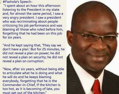Here's what Fashola thought of GEJ's speech at his...