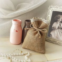 100 Natural Rustic Burlap 5 x 7 Wedding Favor Bag by GoodieGifts