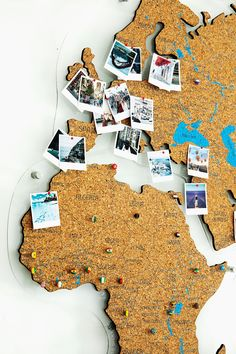 Cork World Map Push Pin by GaDenMap. Travel map for wall decor in office room, bedroom, living room, kid's room decorating. Cork map of the World wall art, Map cork board, Rustic home decor, World Map gifts, World Map cork #mapdecor #walldecor #babyroomdecor