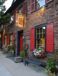 Brafferton Inn, Gettysburg, Penn.  The fireplace mantel has a bullet hole made during the Civil War battle.