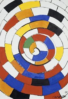 Spiral / Alexander Calder / 1970 / Gouache and ink on paper Alexander Calder, Abstract Pattern, Abstract Art, Hirshhorn Museum, Mobile Art, Kinetic Art, Artists For Kids, Animation, Art History