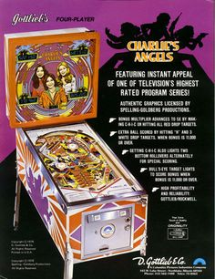 Charlie's Angels Pinball Machine