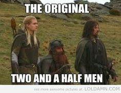 Legolas, Gimli and Aragorn.because I always will be in love with Aragorn Two And Half Men, Half Man, Martin Freeman, O Hobbit, Hobbit Humor, Hobbit Dwarves, Hobbit Funny, Hobbit Hole, Into The West