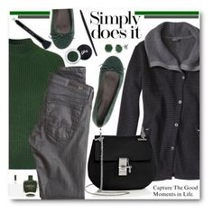 """""""Casual Green & Grey"""" by brendariley-1 ❤ liked on Polyvore featuring Topshop, ANNA BAIGUERA, prAna, Chloé, Nails Inc., AG Adriano Goldschmied, BERRICLE, Rimmel, Marc Jacobs and women's clothing"""
