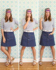 5 jeitos de usar lenço (com o mesmo look) - Um Ano Sem Zara