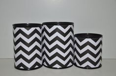 Handmade Pencil Holder Set, Black and White Chevron, Gifts for Graduates, Gifts for Coworkers, Gifts under 15 Desk Accessories, Home…