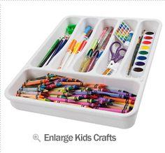 silverware tray for craft supplies-nice organizer Art Supplies Storage, Craft Supplies, Art Storage, Craft Organisation, Organising Ideas, Classroom Organization, Art For Kids, Crafts For Kids, Kids Diy