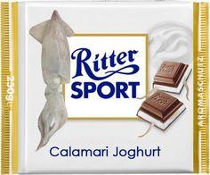 RITTER SPORT Fake Schokolade Calamari Joghurt
