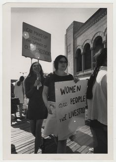 Carol Giardino and other protestors with signs, Miss America protest, Atlantic City, 1968 (maddc07062) - Women's Liberation Movement Print Culture - Duke Libraries