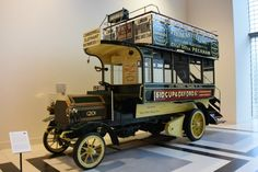Free Image on Pixabay - Milnes Daimler Omnibus, Car Vintage Trucks, Old Trucks, Ferdinand Porsche, Classic Trucks, Classic Cars, Bus Art, Automobile, Double Decker Bus, Bus Coach