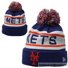 3c01bf19e43 New York Mets MLB Biggest Fan Pom Beanies Knit Hats Cap