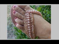 Chinelo Bordado   PAP   Como fazer chinelos decorados   Renda Vintage   Maguida Silva - YouTube