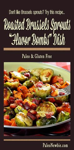 A tasty twist on traditional roasted Brussels sprouts featuring sweet potatoes, pancetta and a fresh-squeezed orange. • Hate Brussels sprouts? You've never tried them like this!