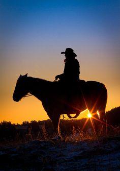 Sunrise Cowboy Photograph  - Sunrise Cowboy Fine Art Print