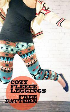Southwestern Snug: Cozy Fleece Leggings Free Pattern
