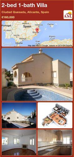 2-bed 1-bath Villa in Ciudad Quesada, Alicante, Spain ►€160,000 #PropertyForSaleInSpain