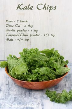 Dishesfrommykitchen: BAKED KALE CHIPS - MUNCH HEALTHY