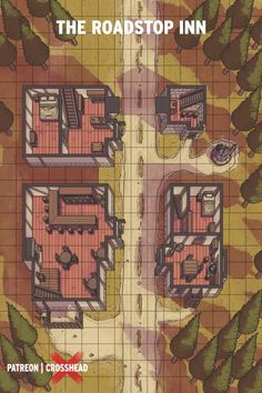 [ART][OC]The Roadstop Inn: a killer sidequest. : DnD Fantasy Village, Fantasy City, Dungeons And Dragons Memes, Fantasy Map Maker, Building Map, Map Layout, Dnd Art, Dnd Monsters, Dungeon Maps