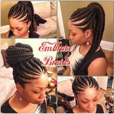 Ghana ponytail