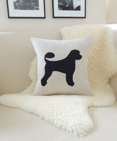Hey, I found this really awesome Etsy listing at https://www.etsy.com/listing/183146739/portuguese-water-dog-pillow-cover-dog