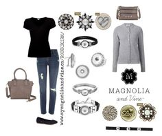 High quality snap jewellery and accessories by New Direct Sales company Magnolia and Vine are so versatile and can pull ANY outfit together! Check out www.mymagnoliaandvine.ca/ROBBIKIRK/ and contact Roberta Kirk at www.facebook.com/mymagnoliaandvinerobbikirk Casual Black and Grey by magnoliaandvine on Polyvore