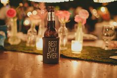 Best day ever! wedding coozies