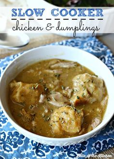 These Slow Cooker Chicken and Dumplings are an easy version of the comfort-food classic. You will love this simple and delicious recipe!